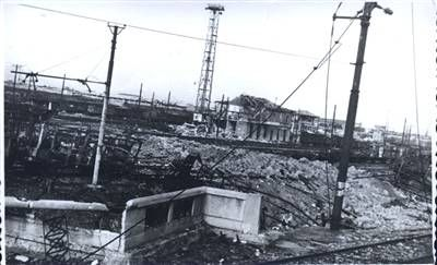 Bologna bombardata, Stazione centrale