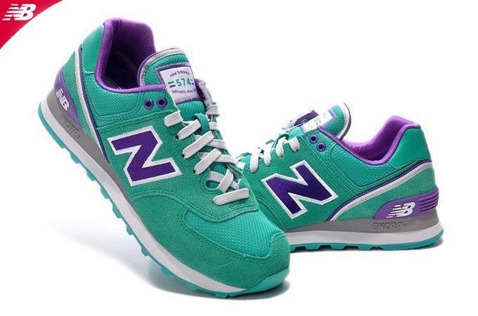 New Balance Verde y Violeta mod.wl574w | Verde, Violeta