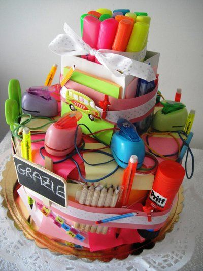 Cake stationery gift idea