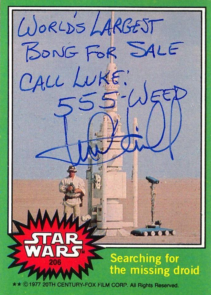 """Ich hatte mal auf Twitter eins von diesen Luke Skywalker-Autogrammen gesehen, als Mark Hamill das Teil als """"real"""" abnickte. Ich wusste aber nicht, dass der offenbar auf allen seinen Autogrammen de"""