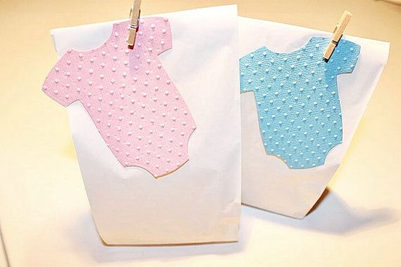 Baby Onesie Glassine Bags Kit  x 10 Blue by ConfettiCreationsAus