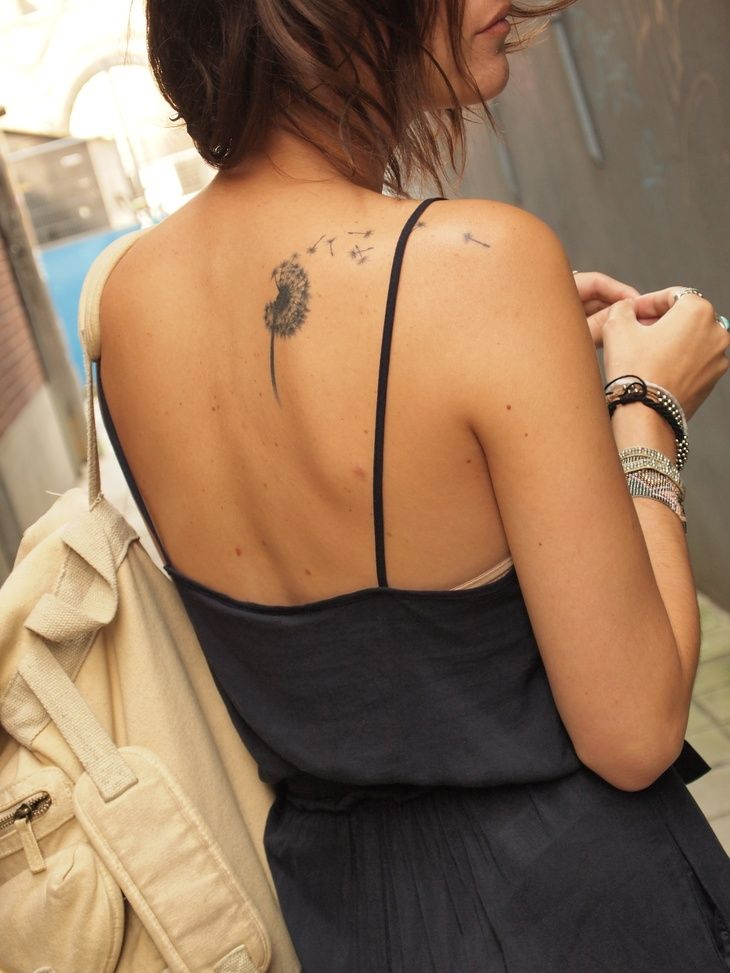 cute back/shoulder tattoo - make a wish / summer fun