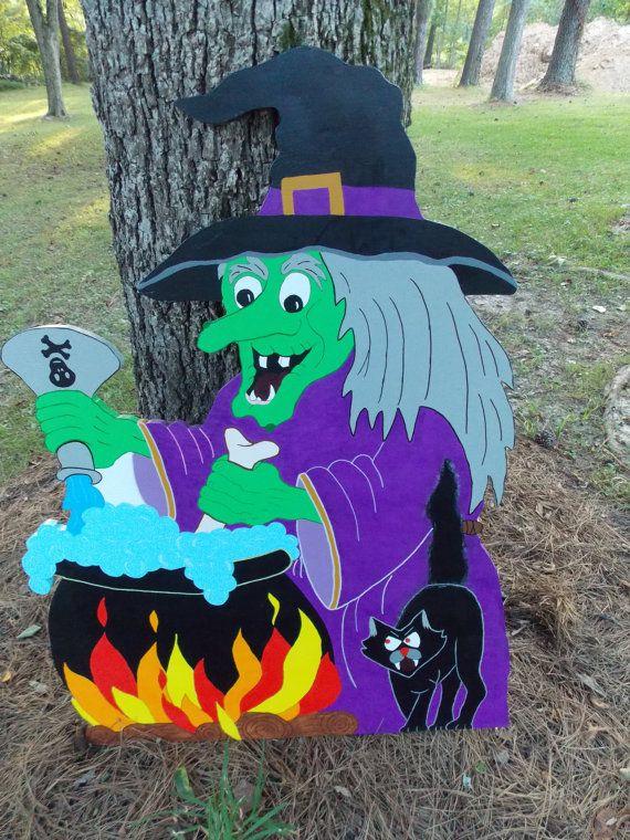 Wooden Halloween Yard Art