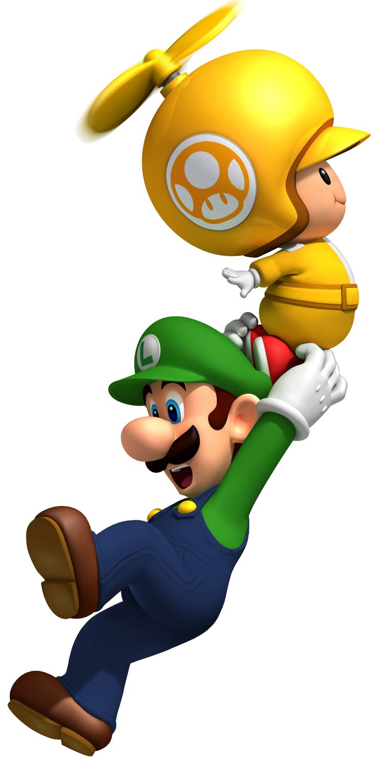 New Super Mario Bros Wii - Yellow Toad and Luigi