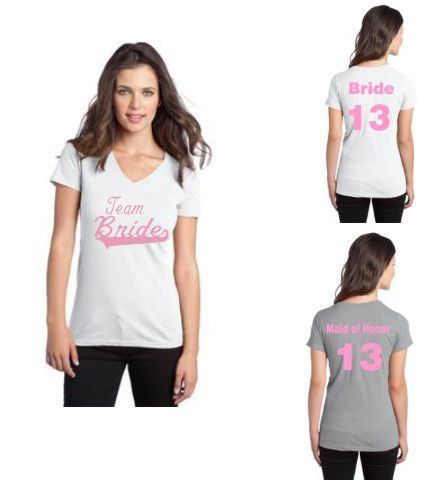 Team Bride TShirt Wedding Party tshirt Bridesmaid by cre8ivgifts, $20.00