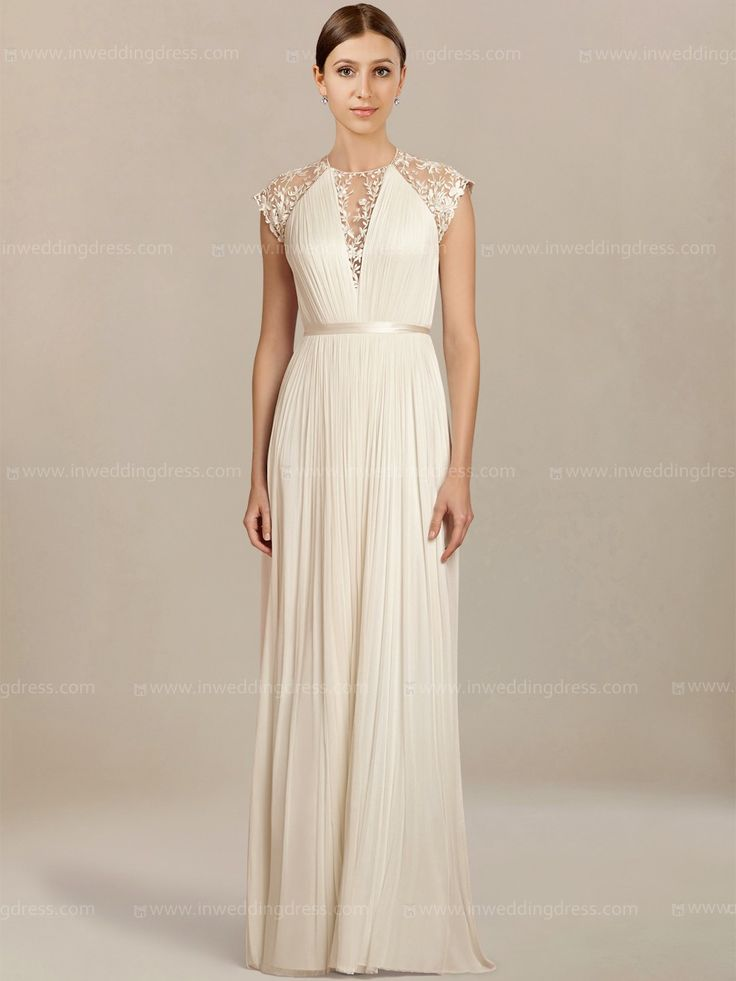 Beach Wedding Dress Is Crafted From Gorgeous Chiffon And Lace Fabric A High Sheer Jewel