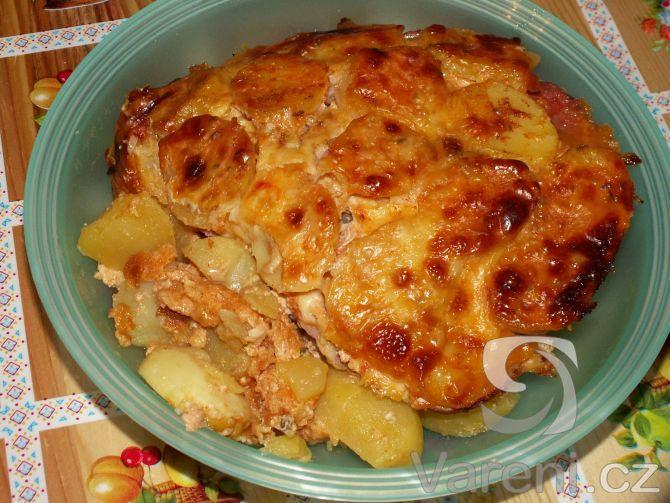 Recept Vrstvené zapékané brambory - Vrstvené brambory doporučuji.