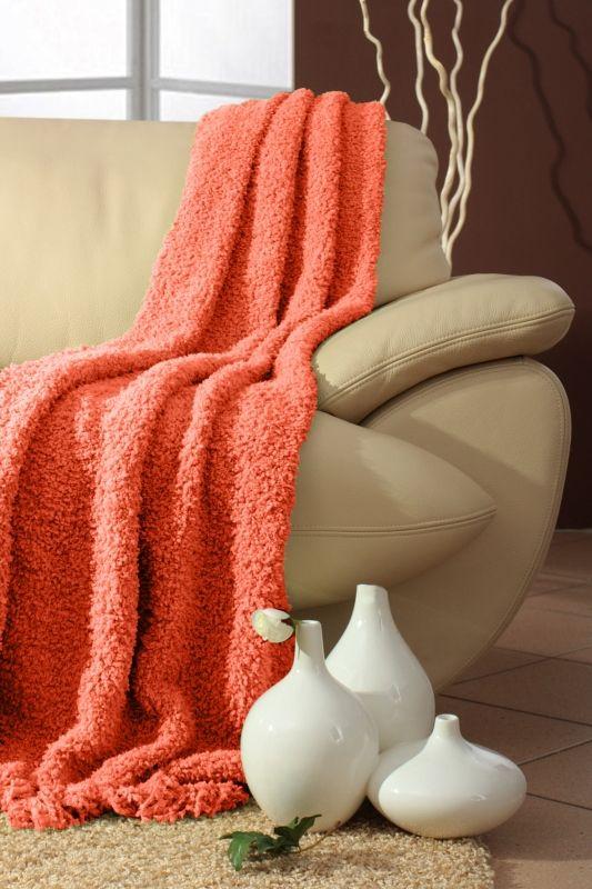 Narzuty pomarańczowe na kanapę i fotele