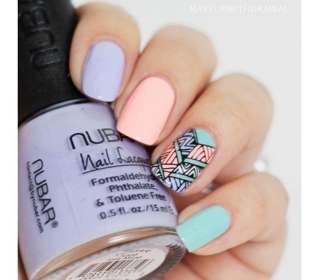 Wzorki na palec serdeczny. 20 super pomysłów na letni manicure - Strona 16