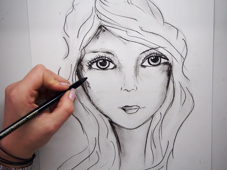 How To Draw A Female Face: Step By Step part 1