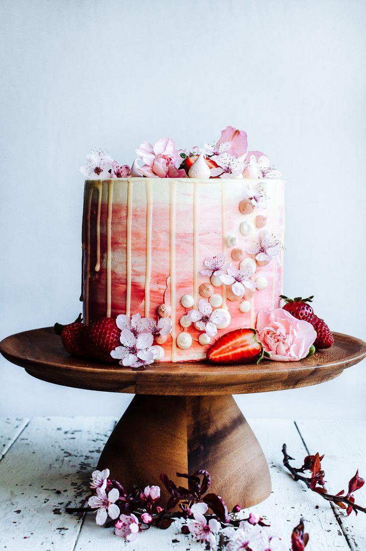 Strawberry and vanilla cake