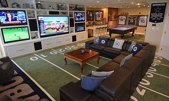 Home is not only where the family gathers to connect, play, live and relive favorite moments in the life of their teams. A fan's home also includes spaces where memorabilia and treasures from a lifetime of fandom are enshrined.
