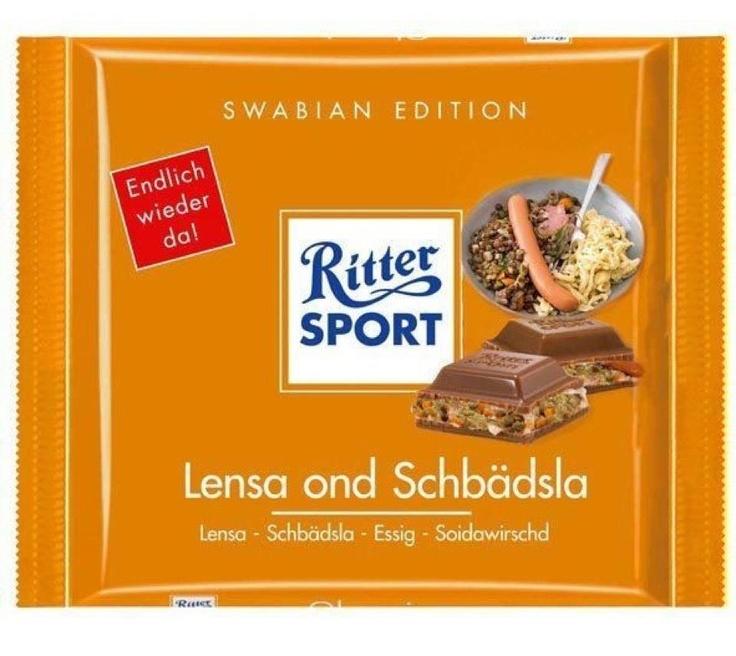 RITTER SPORT Fake Schokolade Lensa ond Schbädsla | RITTER ...