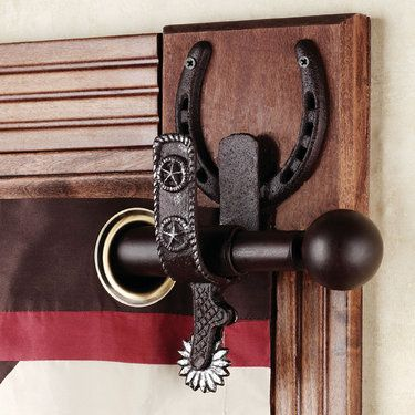 """Jordan, this would be cool for your house :) Mom would like these! Spurs Western Decorative Rod Set - 44"""" to 80"""""""