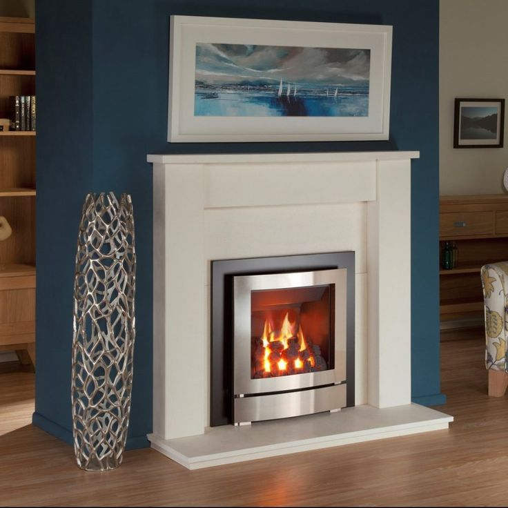 Grey Design Gas Fireplace Repair Above Laminate Wood Floor Front