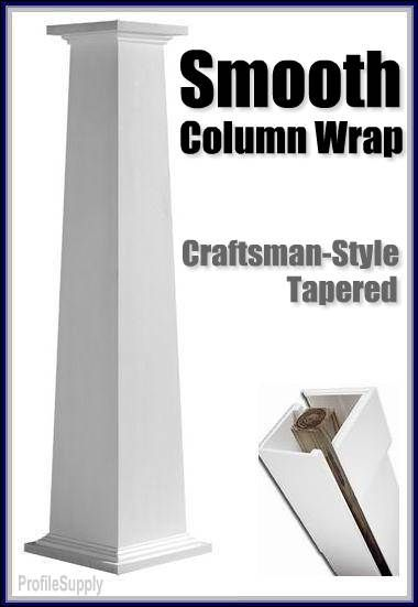 Craftsman Style Column Wrap This Is A Pre Made One But