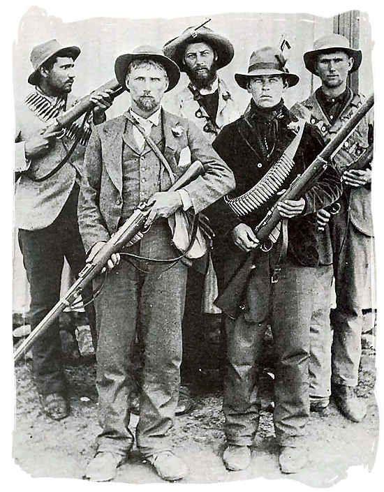 Guerrilha 'Boer'. Africa do sul, 1900. Os primeiros campos de concentração foram criados para dispersar esses caras.