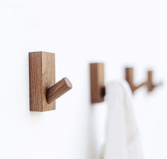Creative Wall Hook Decorative Hook Wall Hook Coat Hangers Rack Hook Solid Wood Hook In 2020 Wooden Wall Hooks Wall Hanger Wood Hooks
