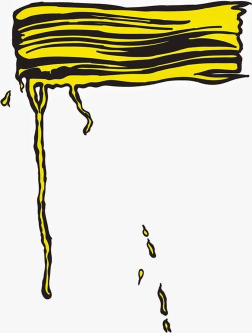 Roy-Lichtenstein+Brush-Stroke-1-in-Yellow.jpg (504×666)