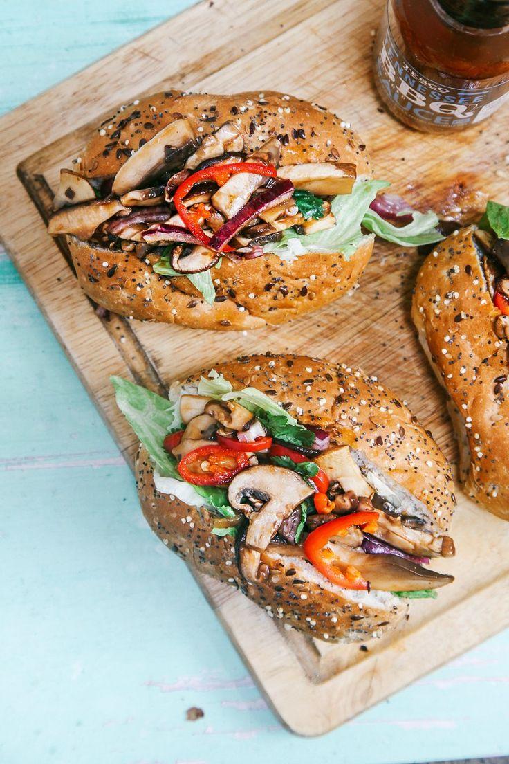 BBQ 'shroom buns (Vegan) | Pinterest: nasti
