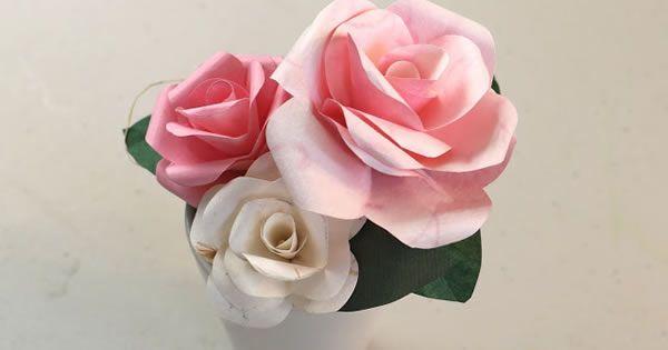 Como Fazer Rosas de Papel Maravilhosas - Passo a Passo em Vídeo                                                                                                                                                                                 Mais