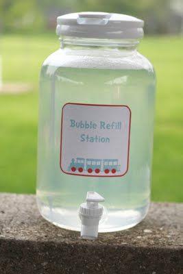 train party bubble station