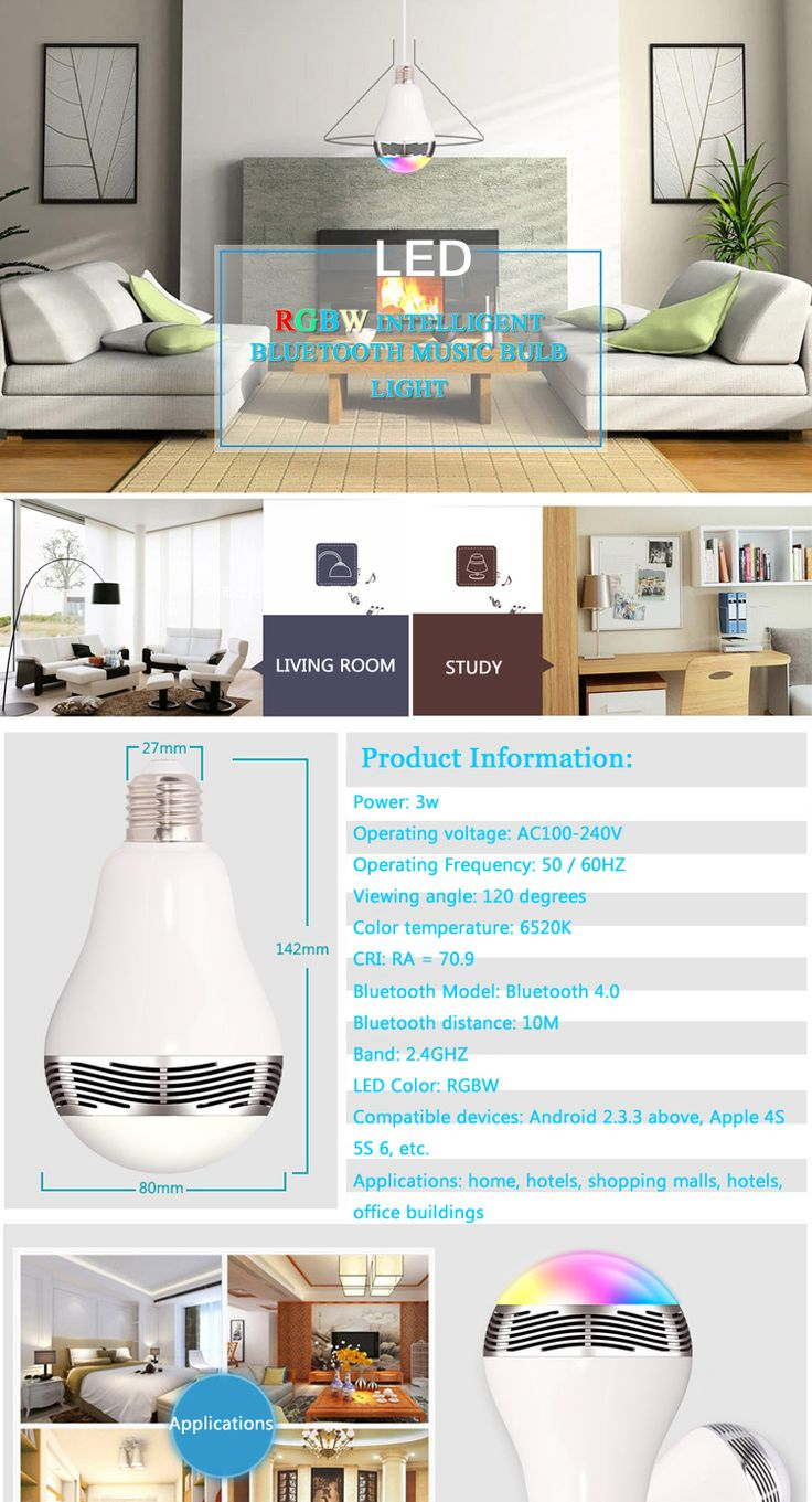 Buy 2016 hot sale music group 3w Bluetooth speaker led bulb with Smart phone APP controlled LED Residential Lighting on bdtdc.com