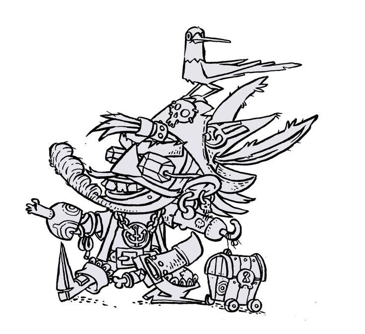 Larsson Portfolio - Pirate character made with my favourite pilot pen.