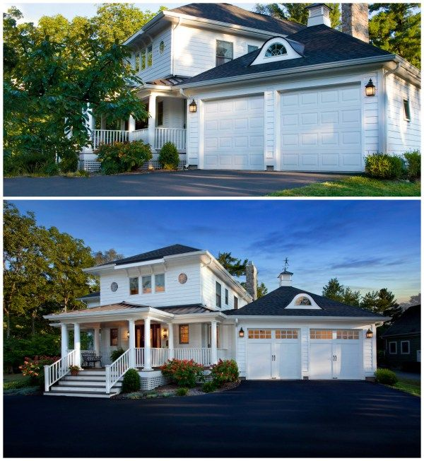 The 1 Curb Appeal Update To Add Value To Your Home Is A New Garage Door Get Inspired By These Garage Doo Curb Appeal Renovation Exterior Garage Door Makeover
