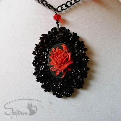 Collar Camafeo Gotico Dark Rosa Velvet Rose - $ 125.00 en MercadoLibre