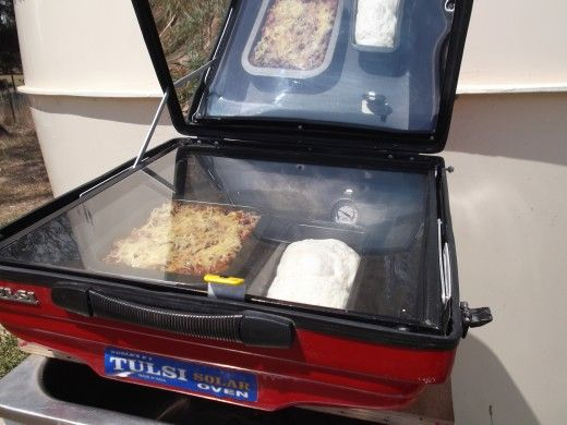 Harness the power of the sun with a solar oven. It is a great way to cook if you live off the grid.