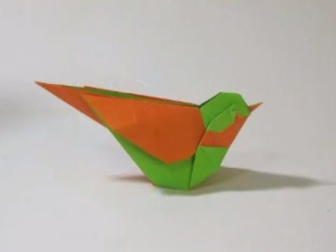 How to make an Origami Little Bird - YouTube