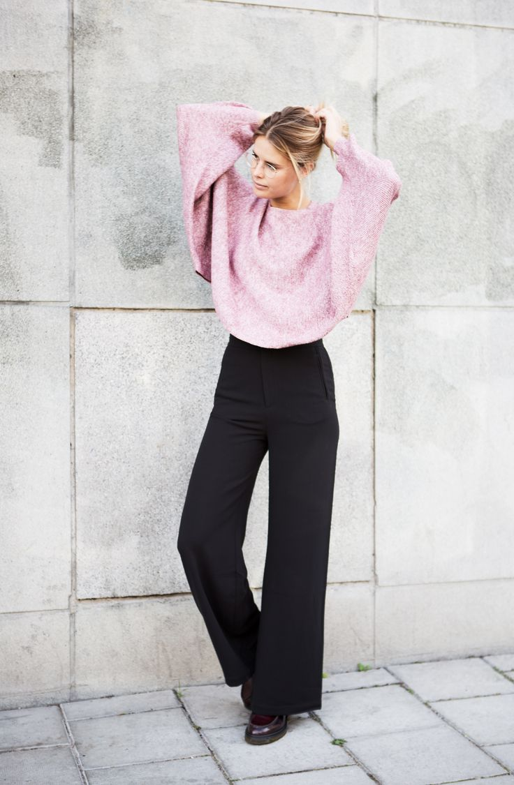 Knitted sweater and Sini pants from Rodebjer.