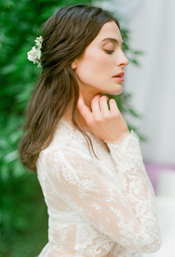 Long Sleeve Lace Robe | Warmphoto | Sleeping Beauty - An Enchanted Bridal Morning