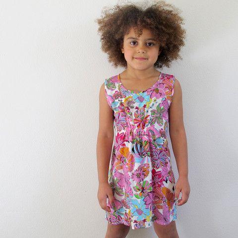 little girls heaven - Tank Dress - flowers - TD3