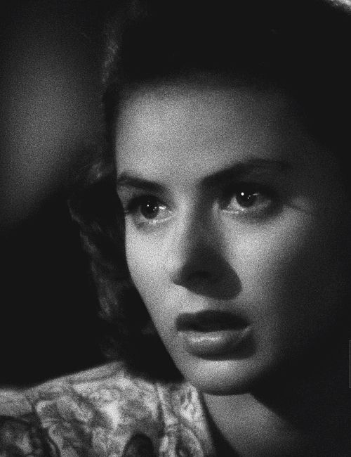 Ingrid Bergman:  That face... it was her most vital instrument.  She told such vivid stories along the lush hills and beauteous plains of it. She brought music.  She brought drama.  She brought Ingrid! L.M. Ross