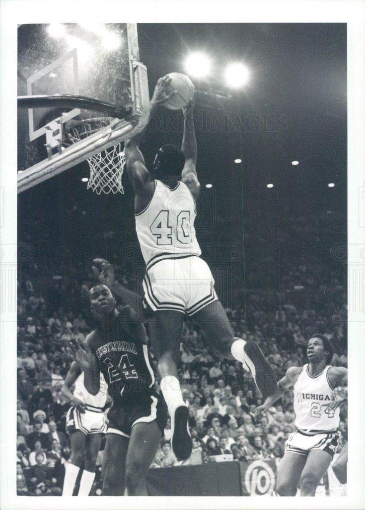 1983 Press Photo Michigan Wolverines Basketball Richard Rellford