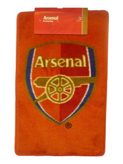 Arsenal FC Wonderfully colourful rectangular floor rug - Approximately 80 cms 31 inches by 50 cms 20 inches - Ideal for use on a bedroom floor or even as a welcome mat for your home