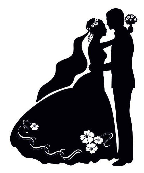 Image result for wedding silhouette images