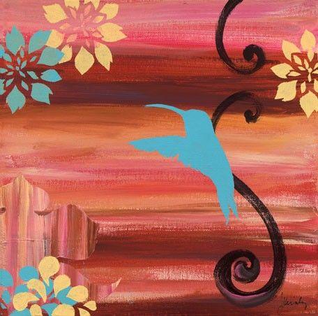 Blue Bird Solo Canvas Wall Art Modern Home Decor At