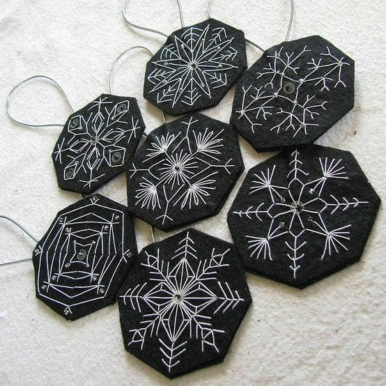 I am thinking this is a great idea for either Christmas decoration or necklace with my crocheted snowflakes glued on.