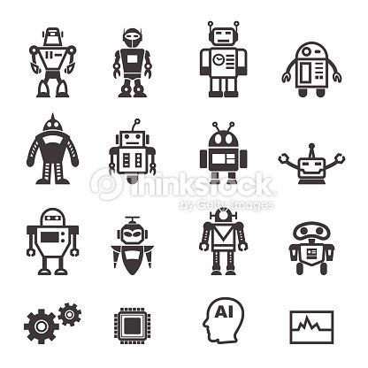 Vector Art : robot icons