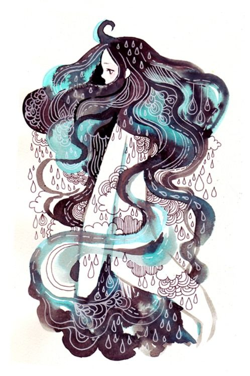 raincloud girl, by http://maruti-bitamin.tumblr.com/