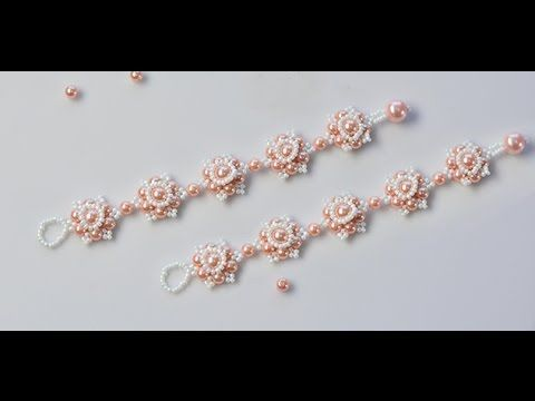 Make Flower Bracelet with Pearl Beads...~ Seed Bead Tutorials