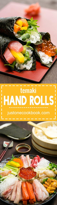 Temaki Sushi  (Hand Roll) 手巻き寿司 | Easy Japanese Recipes at JustOneCookbook.com