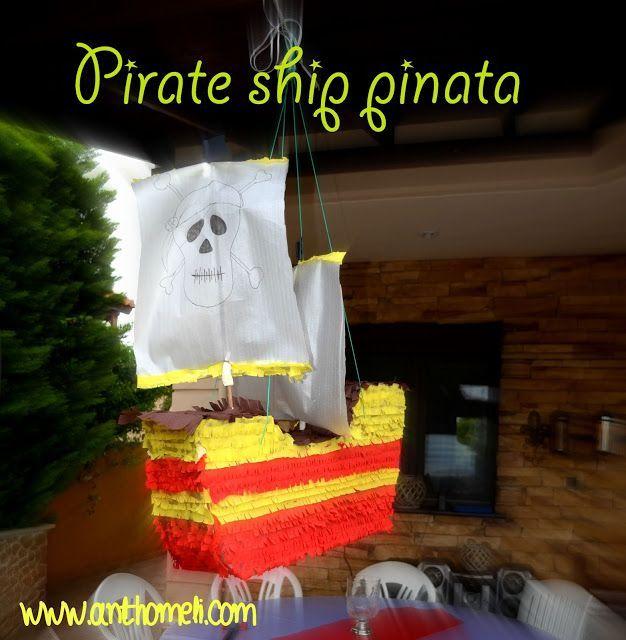 PINATA PIRATE SHIP, ΠΙΝΙΑΤΑ ΠΕΙΡΑΤΙΚΟ ΚΑΡΑΒΙ, Πινιάτες οι αγαπημένες! (updated!) - Anthomeli