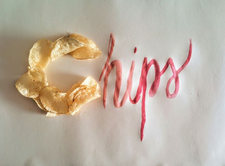 #chips#handmade#typography