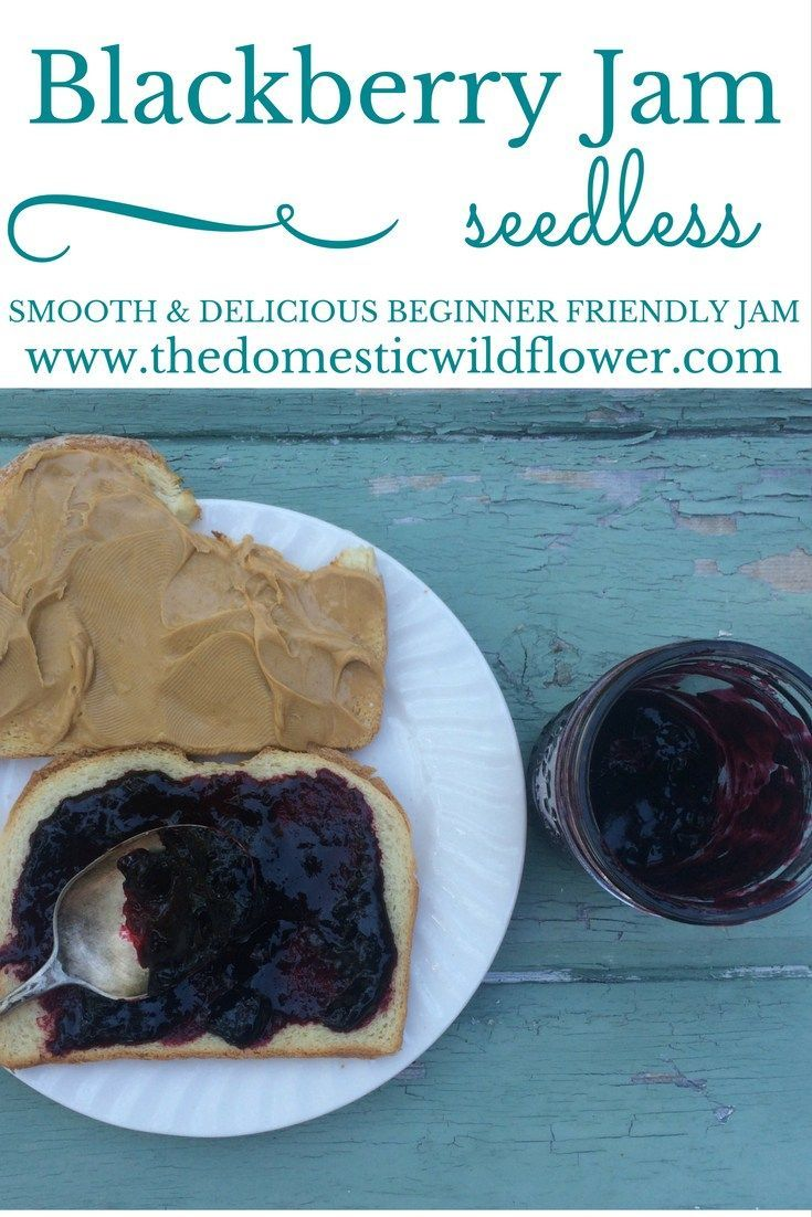 Smooth Blackberry Jam | The Domestic Wildflower click to read this beginner…