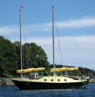 Junk rigged dory sailboat pinterest for 68 garden design gaff rigged schooner