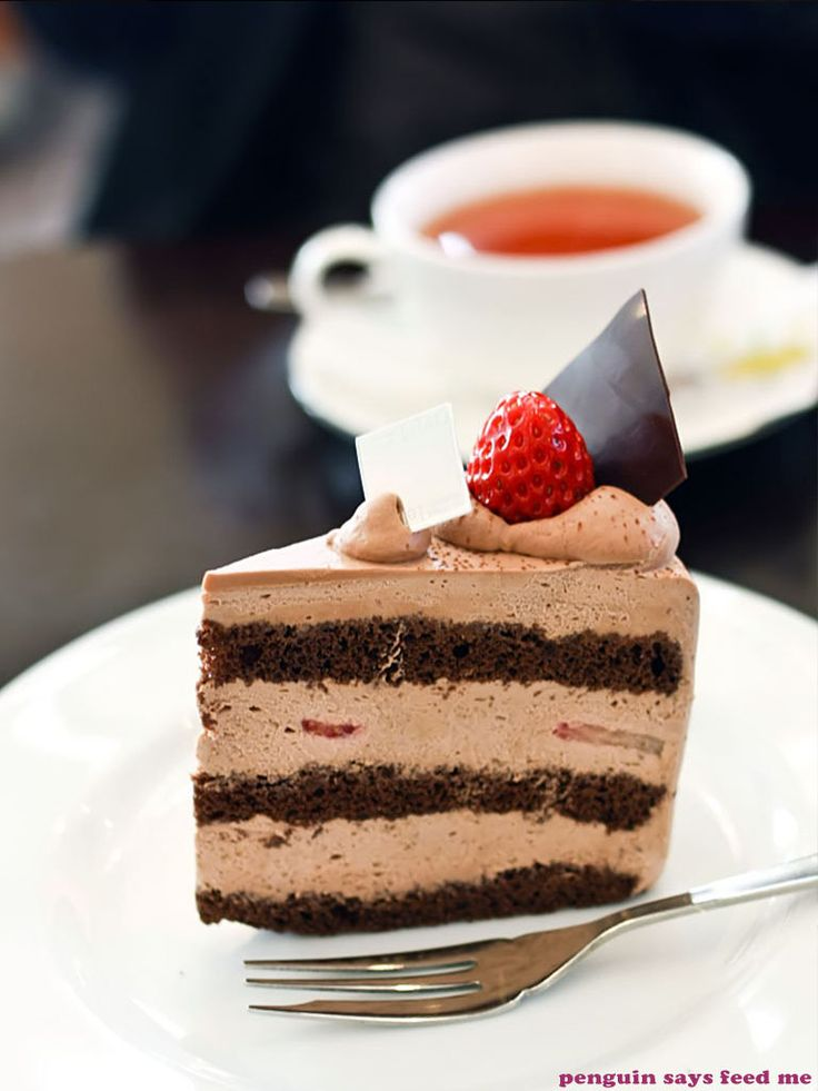Chocolate strawberry shortcake from Le Tao in Otaru, Hokkaido